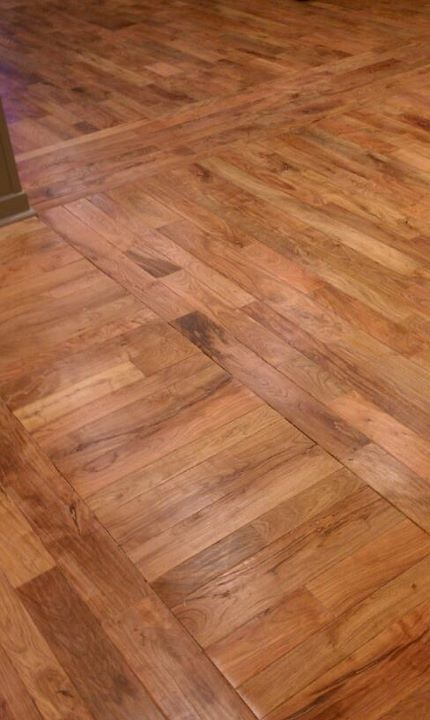 Texas Mesquite strip flooring